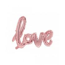 Globo metalizado Love 73x59cm- oro rosa