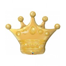 Globo metalizado forma corona de 41 pulgadas - 104,14 cm
