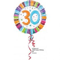 Globos de Cumpleaños 30 Radiante - Metalizado 45cm