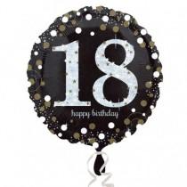 Globo de Cumpleaños 18 Dorado - Metalizado 45cm
