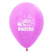 Globo Latex R12 Sempertex Satin Rosado Bautizo 30cm