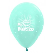 Globo Latex R12 Sempertex Satin Azul Bautizo 30cm