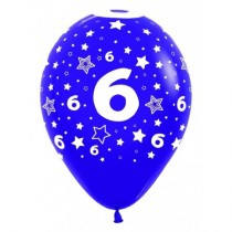 Globo Latex R12 Sempertex Surtido Colores Numero 6 30cm