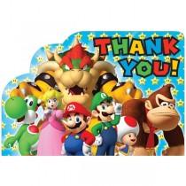 Tarjetas de agradecimiento Super Mario