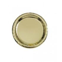 8 platos de 9 pulgadas/ 22,86 cm redondos oro