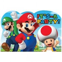 Invitaciones y Sobres de Super Mario