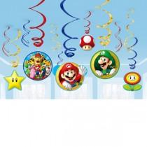 Remolinos Colgantes decorativos Super Mario