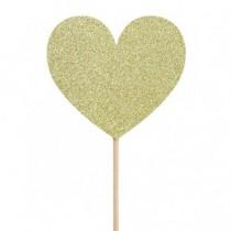 Adorno pastel corazones Love