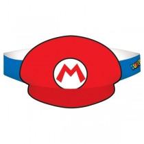 Sombreros de papel de Super Mario