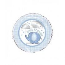 Globo foil elefantes azules Baby Shower