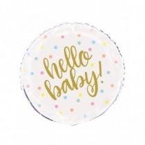 Globo de foil redondo Hello Baby