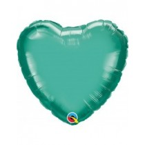 Globo foil Cromado forma corazon (45,7cm) color verde