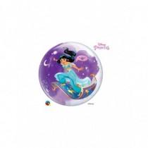 Globo Burbuja Transparente Empacado De 22 pulgadas. (55,8cm) Princesa Jasmine