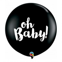 Globo latex 3Ft (91,44cm)color negro onix Oh Baby!