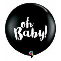 Globo latex 3Ft (91,44cm)color negro onix Oh Baby!
