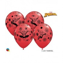 Globo latex 12 pulg. (30,4cm) Redondo 06 Und. Rojo Marvel Spiderman