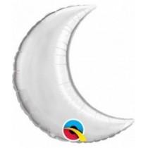 Globo foil 09 pulg. (22,8cm) forma de luna color plata
