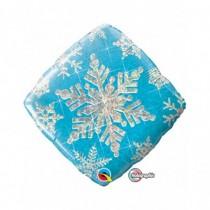 Globo foil 18 pulg. (45,7cm) Diamante copo de nieve azul