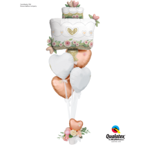 Ramo de globos Tarta boda brillante