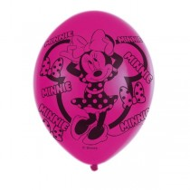 Globos Minnie Mouse 4 Sided Latex Balloons 11''/27.5cm. 6 ud pack