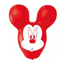 Globos Minnie Mouse Giant Ears Balloons 4 Sided Print 22''/55.8cm 4 ud pack
