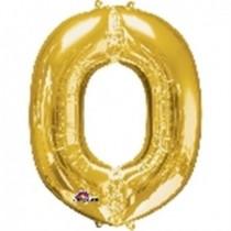 Globo Letra O Gigante, de Color Oro.