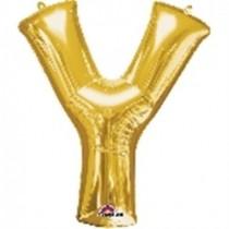 Globo Letra Y Gigante, de Color Oro