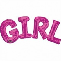 Globo frase Girl rosa