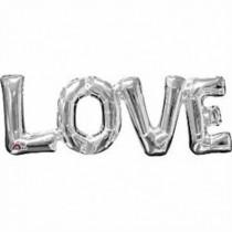 Globo palabra LOVE plata