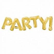 Globo frase PARTY oro