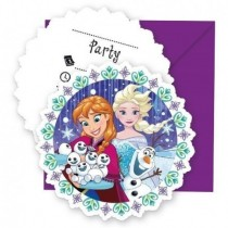 Invitaciones Frozen Showflakes