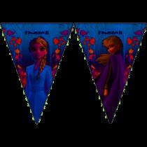 Banderin Frozen II triangulos (2.3m aprox)
