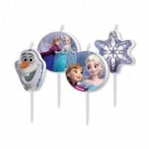 4 Mini-Fig.Velas Frozen