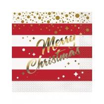 Servilleta Feliz Navidad 16 ud