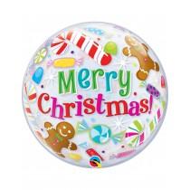 Globo Burbuja 22 pulg. (55,8cm)  Merry Chrismas