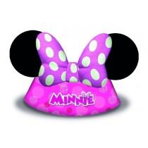 Gorro Cono Forma Minnie Rosa