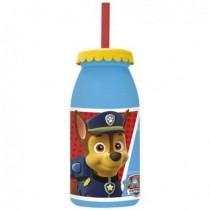 Botella Patrulla Canina Con Pajita (1)