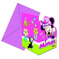 Invitacion Forma y sobres Minnie Rosa