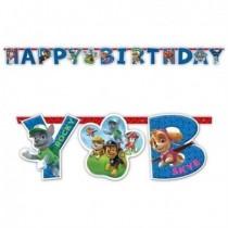 Guirnalda Patrulla Canina Happy Birthday