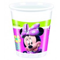 Vasos Plastico 200ml Minnie Rosa