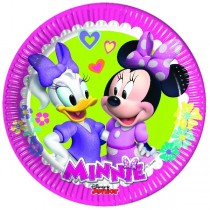 Platos Papel 20cm Minnie Rosa