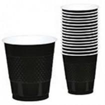 Vaso 355ml Color Negro (10 ud)