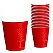 Vaso 355ml Color Rojo (10 ud)