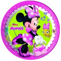 Platos Papel 23cm Minnie Rosa