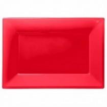 Bandeja Rojo Rectangular Plástico (3