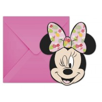 INVITACIONES FORMA MINNIE TROPICAL