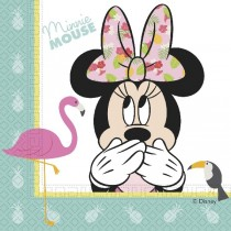 SERVILLETAS 33x33 MINNIE TROPICAL