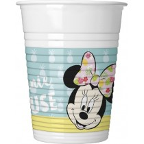 VASOS PLASTICO 200ml MINNIE TROPICAL
