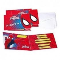 Invitaciones (6) Spiderman Ultimate