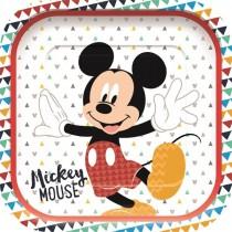 Platos Cuadadro Mickey Increible